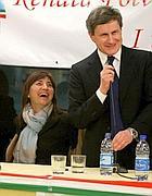Polverini e sindaco ad un incontro pre elettorale coi tassisti