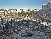 La sistemazione della piazza (foto Jpeg)
