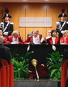 Il presidente Santacroce inaugura l'anno giudiziario (Imago)