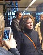 Sabina Guzzanti in tribunale il 31 gennaio (foto Sacchettoni)
