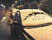 Neve nella notte di giovedì a nord della capitale (Proto)