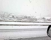 Neve e ghiaccio sullo svincolo del Sant'Andrea