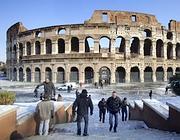 Colosseo ancora chiuso per neve e ghiaccio (Eidon)