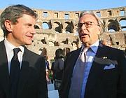 Diego Della Valle con il il sindaco Alemanno (Photomasi)