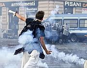 Un'immagine degli scontri del 15 ottobre (Ansa)