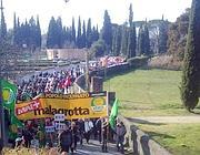 La protesta di domenica scorsa a Villa Adriana (Ansa)
