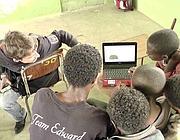Un docente �Isf� con i suoi allievi etiopi