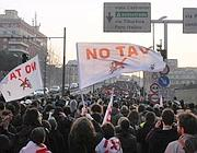 In No Tav sulla tangenziale lo scorso 3 marzo (Eidon)