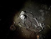 Lo scheletro ritrovato (Ansa)