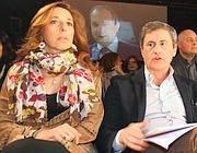 Alemanno con la moglie Isabella Rauti (Jpeg)