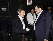 Il sindaco con luigi Crespi (Imagoeconomica)