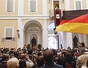 A salutare il Papa anche pellegrini tedeschi (Reuters)