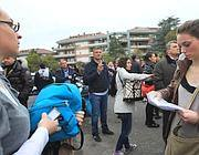 Il caos in strada intorno all'hotel che ospita il concorso sull'Aurelia a Roma (foto Jpeg)