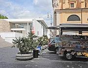 Il camionbar all'Ara Pacis il 18 aprile (Proto)