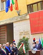 Alemanno, Zingaretti e Monti al museo di via Tasso (foto Jpeg)
