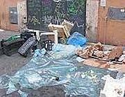 Immondizia a Trastevere dopo un venerdì sera
