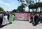 No ai tagli disumani - Protesta fuori la sede della Regione Lazio di Via della Pisana del reparto psichiatrico della Sanità per i tagli subiti (Foto Jpeg)