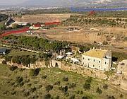 L'area della nuova discarica: in basso il castello di Corcolle