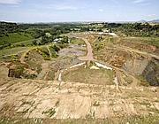 L'area di Corcolle: da tempo è cominciato lo scavo per la discarica (Ansa)