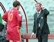 Zeman e Totti nel 1998 (Lapresse)