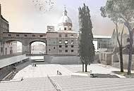 Un disegno del progetto per piazza Augusto Imperatore