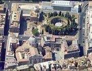 L'area interessata dal progetto delle due fontane: il alto l'Ara Pacis