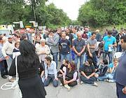 Gli abitanti di Riano bloccano la Tiberina (Jpeg)
