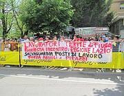 Una protesta dei lavoratori delle Terme di Fiuggi (foto Provincia di Frosinone)