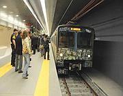 L'arrivo di un vecchio treno della B a Conca d'Oro (Proto)