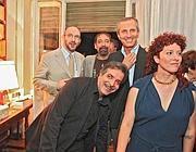 Gli scrittori della cinquina (Foto Jpeg)