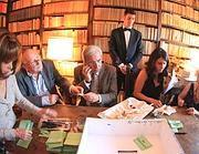 Il seggio in casa Bellonci presieduto da Edoardo Nesi (Foto Jpeg)