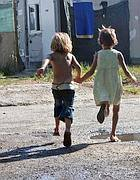 Bambini rom a Tor de Cenci