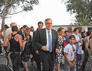 La visita del ministro Andrea Riccardi a Tor de' Cenci (Proto)