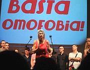 La manifestazione contro l'omofobia a piazza Farnese (foto Jpeg)