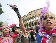 Il corteo del Gay Pride a Roma nel 2011 (Jpeg)