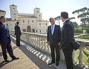 Hollande a Villa Meidci (Afp)