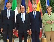 Rajoy, Hollande, Monti e Merkel (Foto Jpeg)