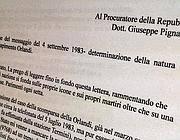 L'esposto di Antonio Goglia alla procura