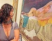 Una delle opere alla Galleria d'arte moderna in via Crispi (Jpeg)