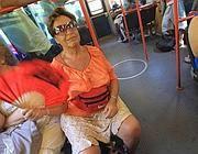 Passeggeri al caldo sulla Roma-Lido martedì 3 luglio (foto Jpeg)