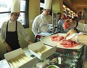 Il banco dei formaggi e salumi da Baccano (Jpeg)