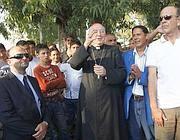 Il cardinal Vallini a Tor de' Cenci (Omniroma)