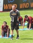 Zeman sul campo di Riscone (foto Mancini)
