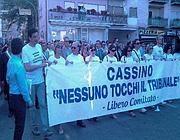 Protesta popolare nelle vie di Cassino in difesa del tribunale