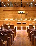 Interno del tribunale di Cassino (foto da Tg24 Ceprano)