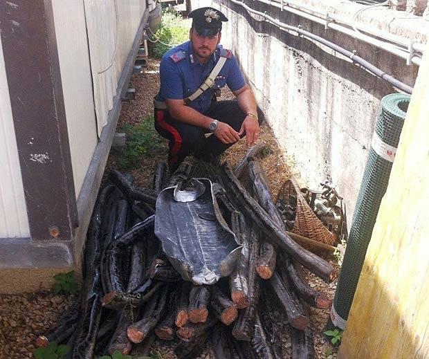 La «miniera» di rame - Scoperta in una abitazione di via Monte