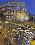 La protesta al Colosseo mercoledì sera (Jpeg)