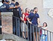 Protesta sulla scalinata di Palazzo Senatorio (Jpeg)