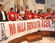 La protesta del Pd in Aula Giulio Cesare qualche giorno fa (Jpeg)