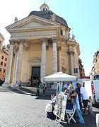 L'ambulante davanti alla chiesa (Jpeg)
